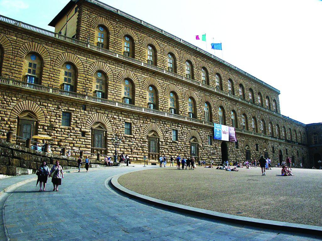 The main entrance of Palazzo Pitti