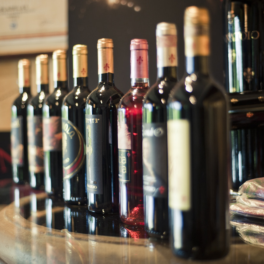 Selection of wines