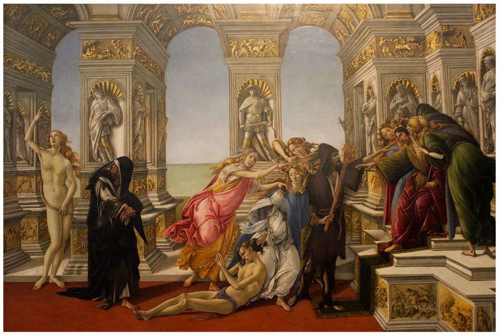 9.Botticelli, Calunnia di Apelle