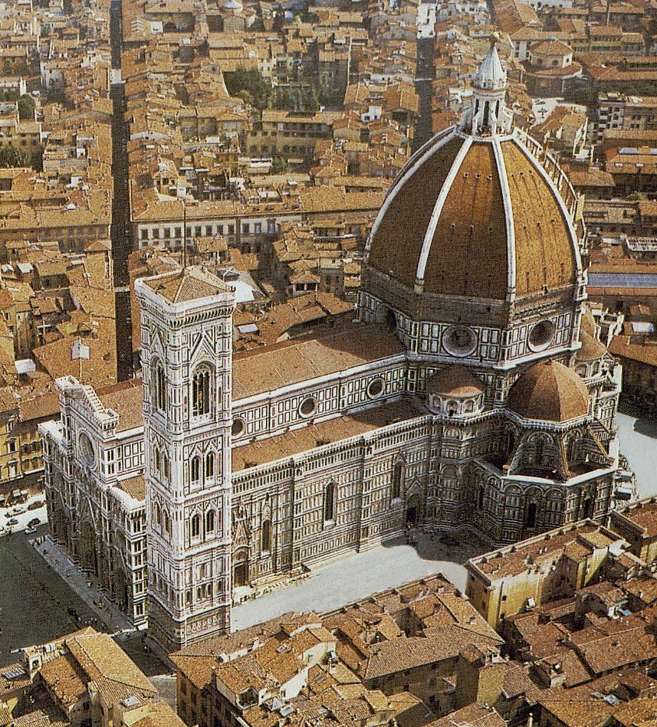Cattedrale-di-Santa-Maria-del-Fiore-1296-1470-veduta-aerea.-Firenze.-2